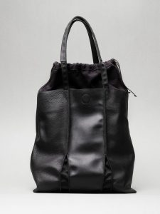 Black leather tote bag by June9Bags
