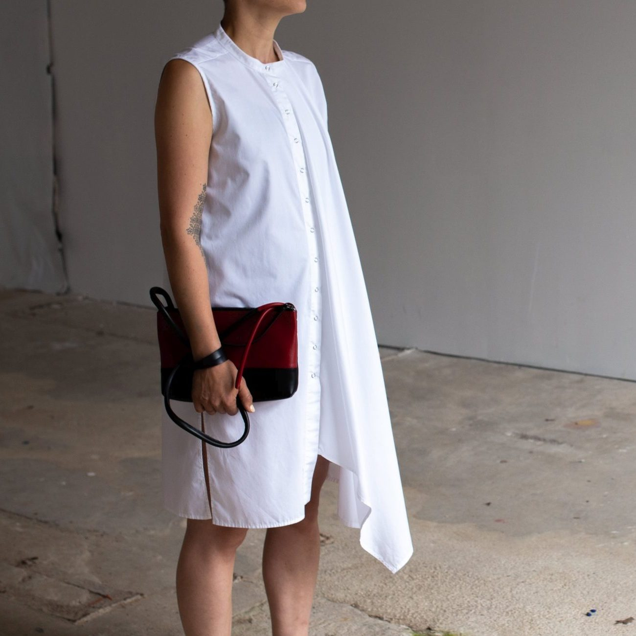 White asymmetric dress by June9Concept
