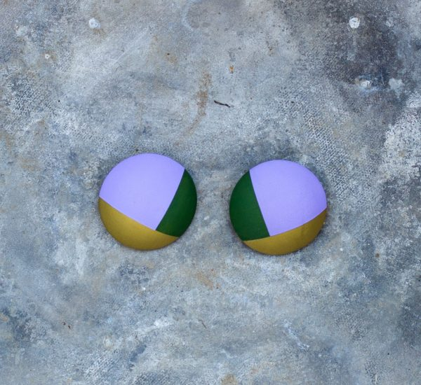 Leather earrings multicollor Bucis