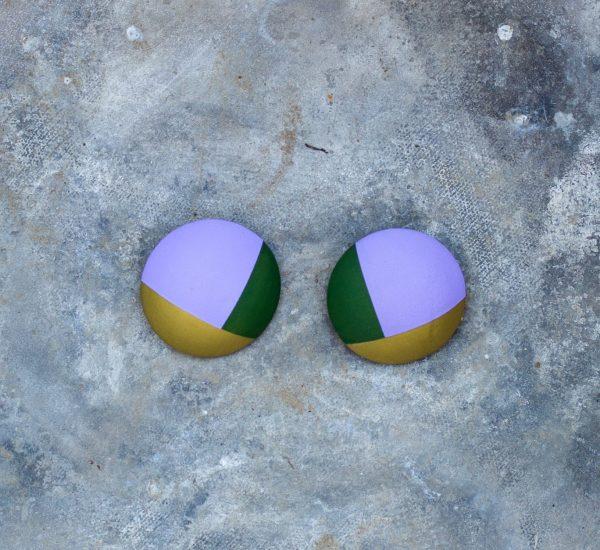 Leather earrings multicollor Bucis