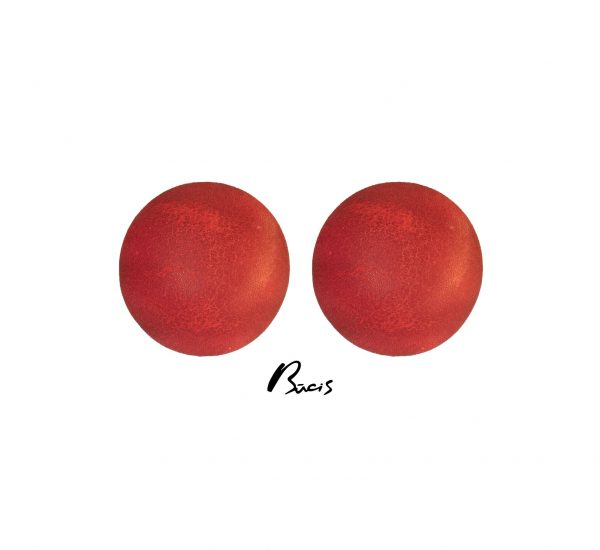 Leather earrings red Bucis