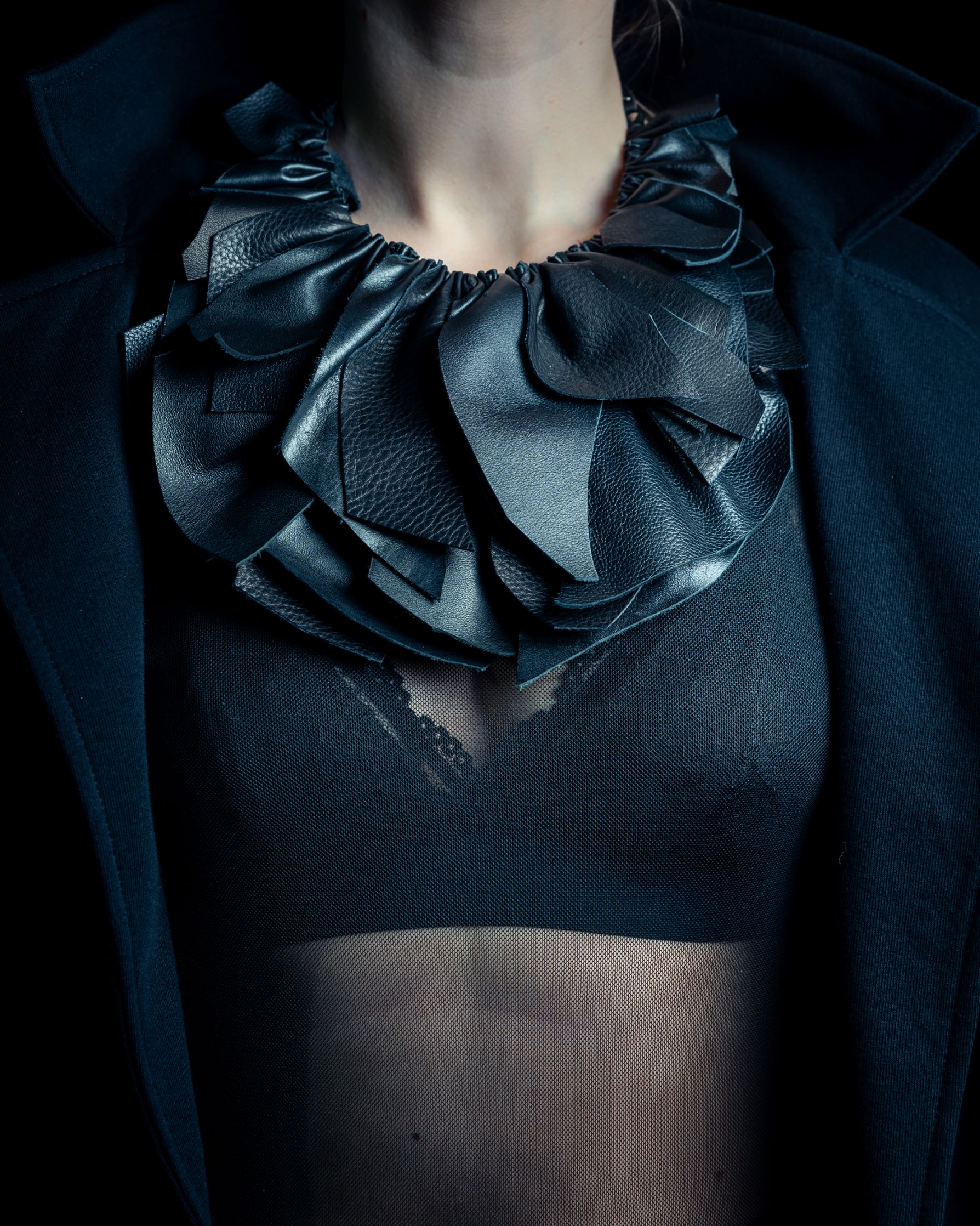 Leather necklace-jab by June9Concept