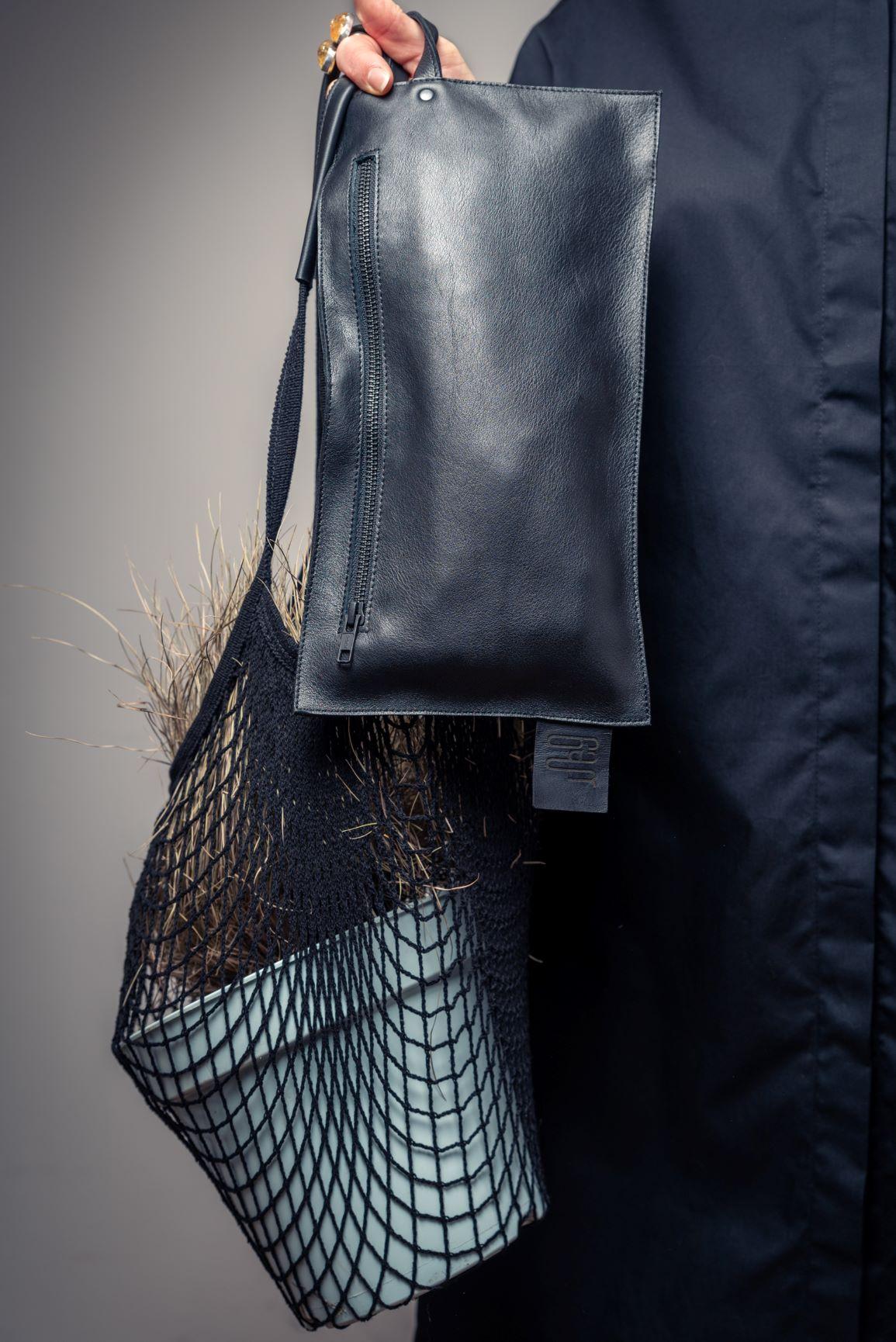 Net String Bag Black By June9Concept
